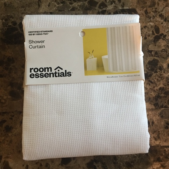 Waffle Weave Shower Curtain White-Room Essentials